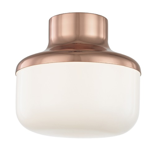 Hudson Valley Lighting Industrial Flushmount Light Copper Mitzi Livvy by Hudson Valley H144501S-POC