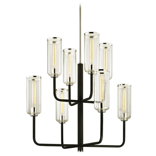 Troy Lighting Troy Lighting Aeon Carbide Black with Polished Nickel Chandelier F6278