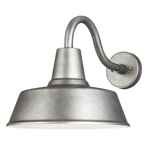 Sea Gull Lighting Sea Gull Lighting Barn Light Weathered Pewter LED Barn Light 8737401EN3-57