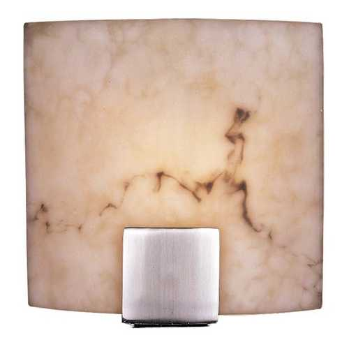 Minka Lavery Modern Sconce Wall Light with Alabaster Glass in Brushed Nickel Finish 334-84