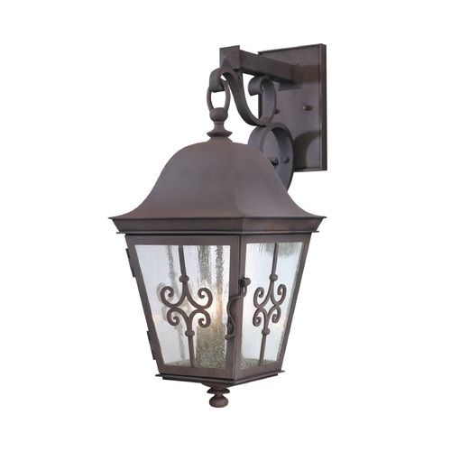 Troy Lighting Outdoor Wall Light with Clear Glass in Weathered Bronze Finish B2353WB