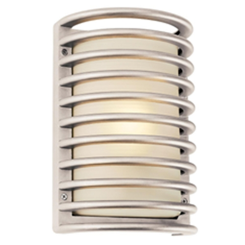 Access Lighting Outdoor Wall Light with White Glass in White Finish 20300-WH/RFR