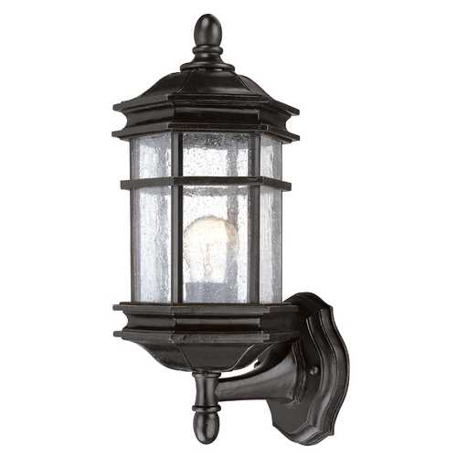 Dolan Designs Lighting Seeded Glass Outdoor Wall Light Bronze 14-1/2-Inch Dolan Designs 9231-68
