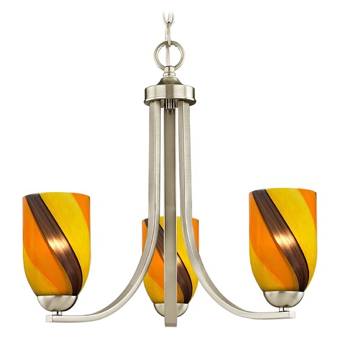 Design Classics Lighting Design Classics Dalton Fuse Satin Nickel Mini-Chandelier 5843-09 GL1015D