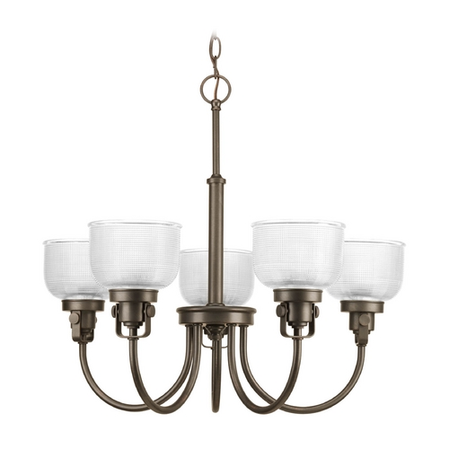Progress Lighting Chandelier with Clear Glass in Venetian Bronze Finish P4689-74