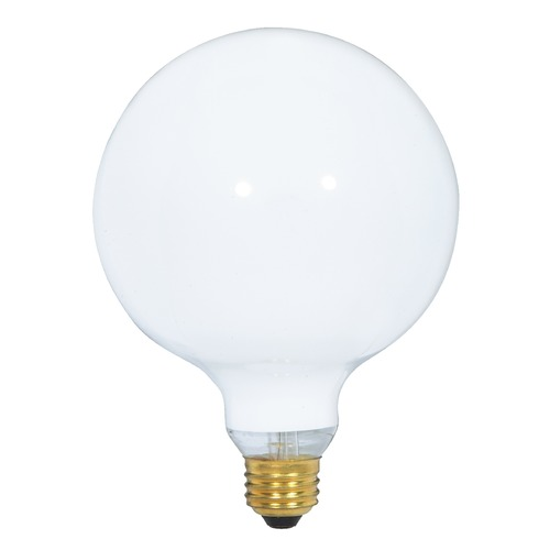 Satco Lighting Incandescent G40 Light Bulb Medium Base 120V by Satco S3003