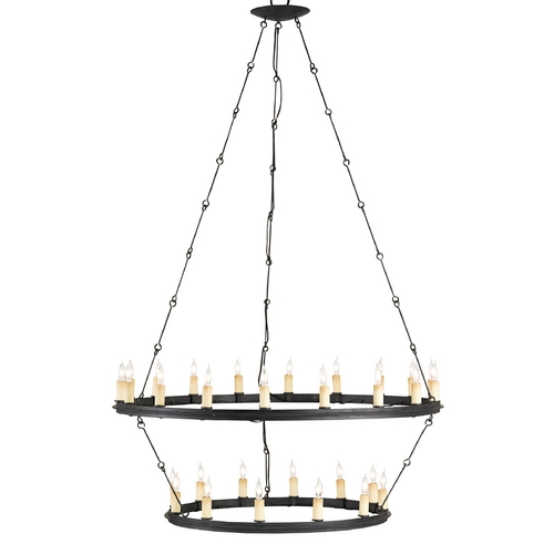 Currey and Company Lighting Currey and Company Lighting Black Smith Chandelier 9935