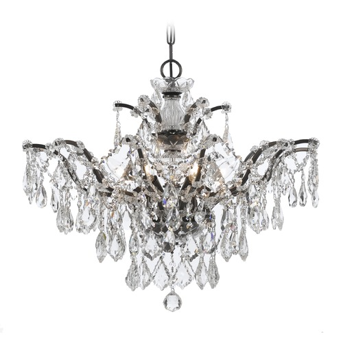 Crystorama Lighting Crystorama Filmore 6-Light Crystal Chandelier in Vibrant Bronze 4459-VZ-CL-SAQ