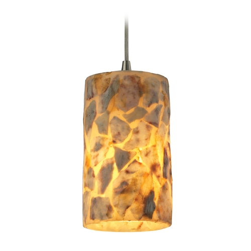 Elk Lighting Mini-Pendant Light with Beige / Cream Glass 10339/1