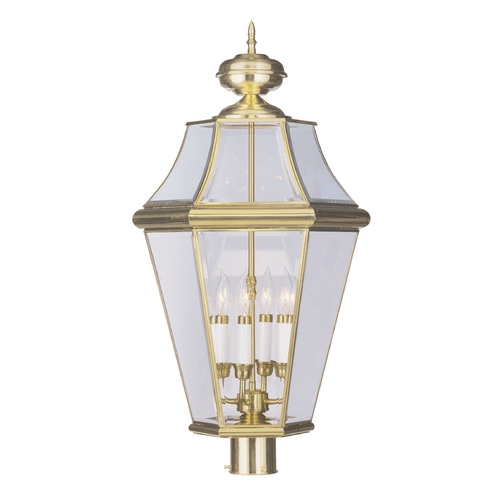 Livex Lighting Livex Lighting Georgetown Polished Brass Post Light 2368-02