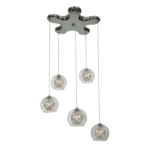 Access Lighting Access Lighting Aeria Chrome Multi-Light Pendant 52076-CH/CLR