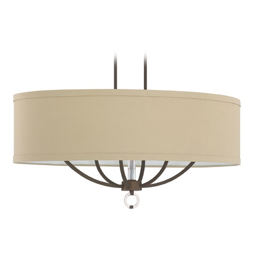 Capital Lighting Capital Lighting Taylor Burnished Bronze Island Light with Oval Shade 4597BB-622