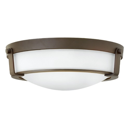 Hinkley Lighting Hinkley Lighting Hathaway Olde Bronze Flushmount Light 3225OB-WH-GU24