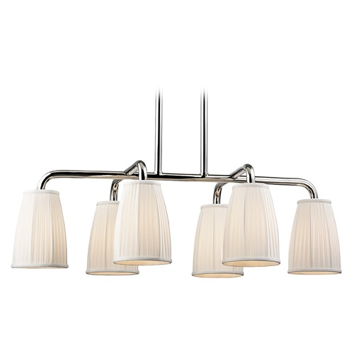 Hudson Valley Lighting Hudson Valley Lighting Malden Polished Nickel Island Light with Bell Shade 6066-PN