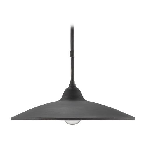 Currey and Company Lighting Currey and Company Coastline French Black / Natural Pendant Light 9680