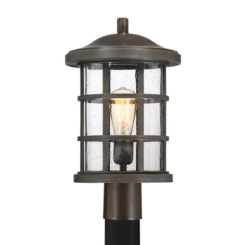 Quoizel Lighting Seeded Glass Post Light Bronze Quoizel Lighting CSE9010PN