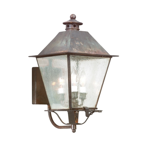 Troy Lighting Outdoor Wall Light with Clear Glass in Natural Rust Finish B9134NR