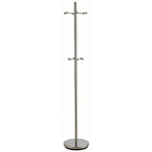 Adesso Home Lighting Satin Nickel Coat Rack with Twelve Hooks WK2046-22