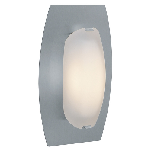 Access Lighting Sconce Wall Light with White Glass in Matte Chrome Finish 63951-MC/FST