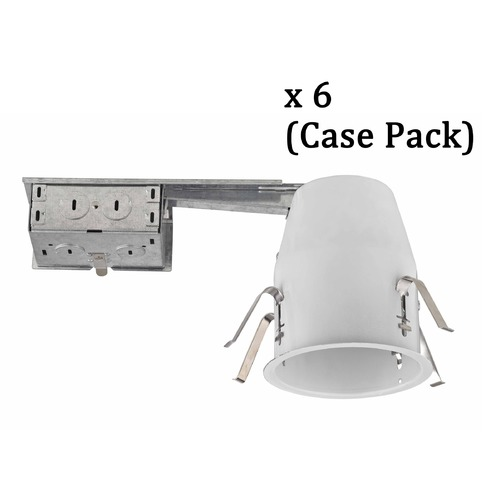 Recesso Lighting by Dolan Designs 4-Inch Remodel E26 Recessed Can Light Non-IC Flat Ceiling Case Pack of 6 TC4R-CASE