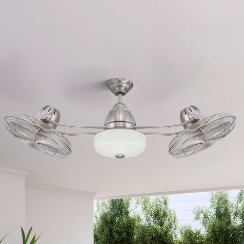 Craftmade Lighting Craftmade Lighting Bellows II Stainless Steel Ceiling Fan With Light BW248SS6