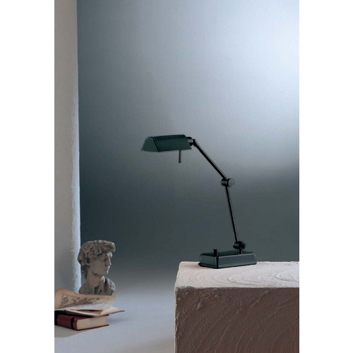 Holtkoetter Lighting Holtkoetter Modern Swing Arm Lamp in Black Finish 8346 BK