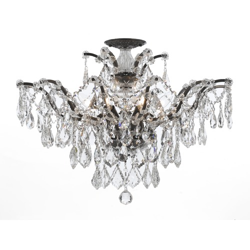 Crystorama Lighting Crystorama Lighting Filmore Vibrant Bronze Semi-Flushmount Light 4459-VZ-CL-SAQ_CEILING
