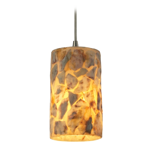 Elk Lighting LED Mini-Pendant Light with Beige / Cream Glass 10339/1-LED