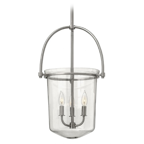 Hinkley Lighting Hinkley Lighting Clancy Brushed Nickel Pendant Light with Bowl / Dome Shade 3033BN