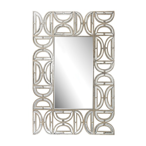 Dimond Lighting Rectangular Wall Mirror With D Pattern Frame 173-008