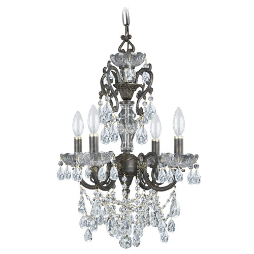 Crystorama Lighting Crystorama Lighting Legacy English Bronze Crystal Chandelier 5194-EB-CL-I