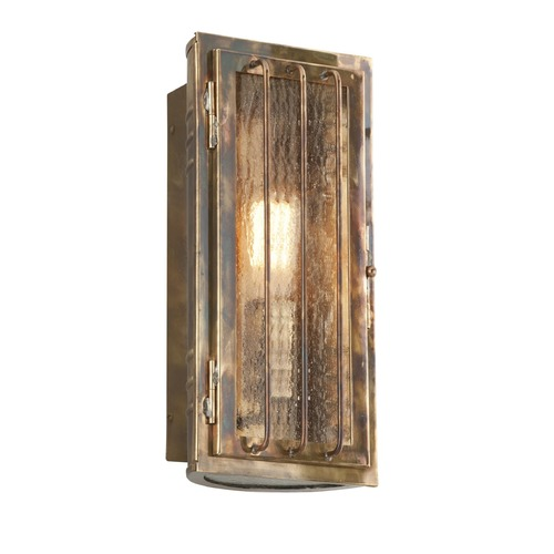 Troy Lighting Seeded Glass Outdoor Wall Light Brass Troy Lighting B4681HBZ
