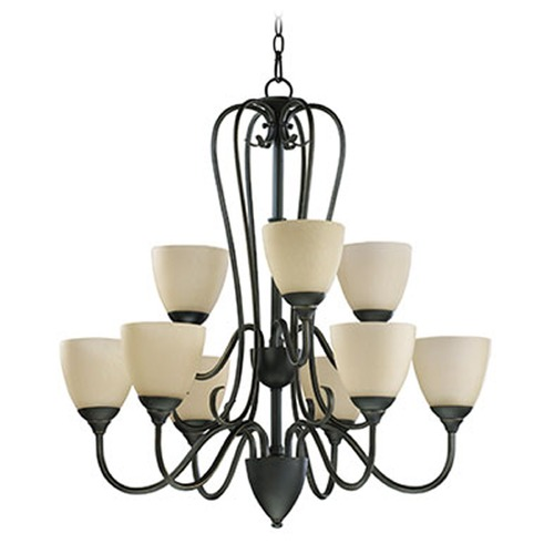 Quorum Lighting Quorum Lighting Powell Oiled Bronze Chandelier 6008-9-86