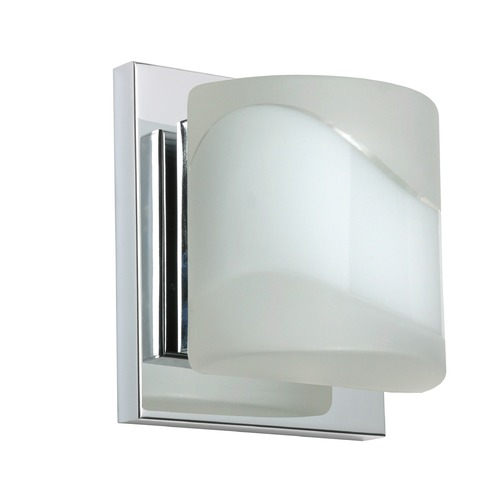 Besa Lighting Besa Lighting Paolo Frosted Glass Chrome LED Sconce 1WS-787399-LED-CR