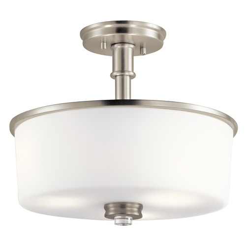 Kichler Lighting Kichler Lighting Joelson Brushed Nickel LED Semi-Flushmount Light 43926NIL16