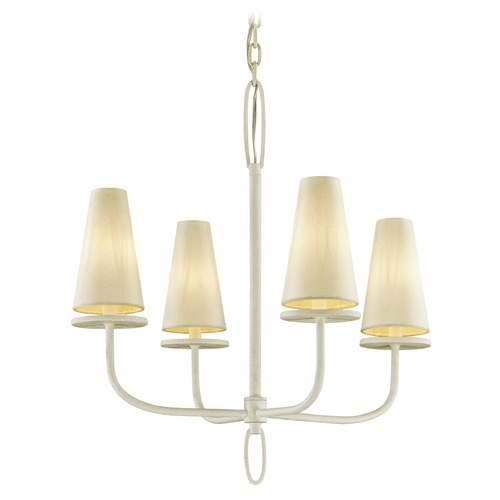 Troy Lighting Troy Lighting Marcel Gesso White Chandelier F6285