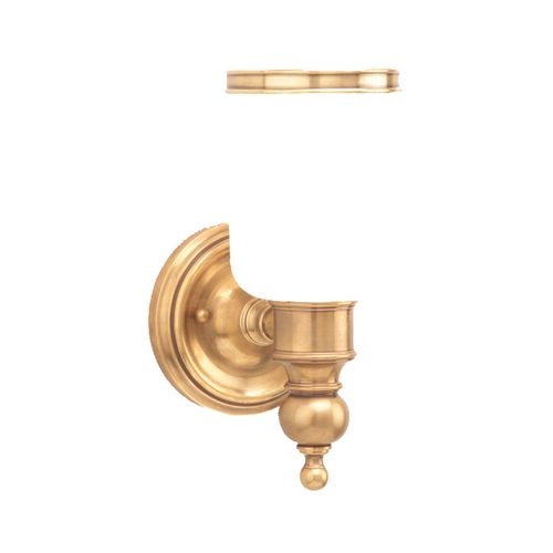 Hudson Valley Lighting Sconce with White Glass in Aged Brass Finish 6301-AGB