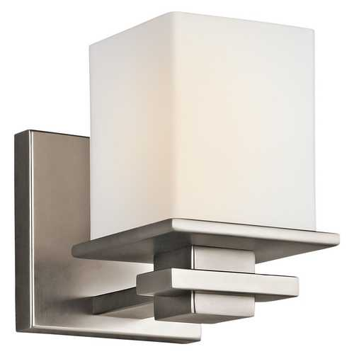 Kichler Lighting Kichler Sconce with White Glass in Antique Pewter Finish 45149AP