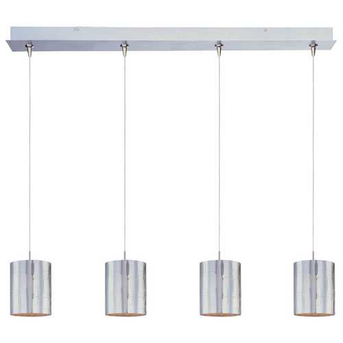 ET2 Lighting Modern Low Voltage Multi-Light Pendant Light with Clear Glass and 4-Lights E94907-69SN