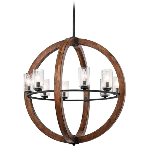 Kichler Lighting Kichler Pendant Light with Clear Glass in Auburn Stained Finish 43190AUB