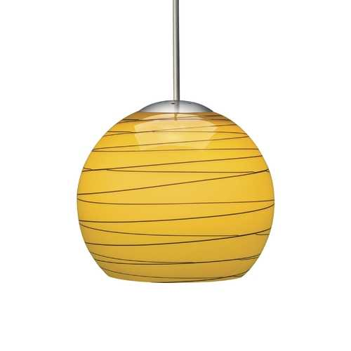 Wrapped Art Glass Low Voltage Minipendant With Dome Canopy P207Mpabrzhmn