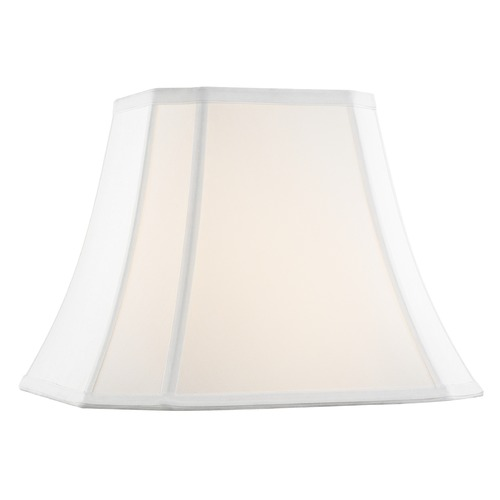 Design Classics Lighting Pure White Cut Corner Fabric Lamp Shade with Piping and Spider Assembly SH9725
