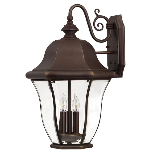 Hinkley Lighting Outdoor Wall Light with Clear Glass in Copper Bronze Finish 2335CB
