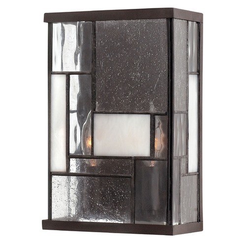 Hinkley Lighting Sconce Wall Light with Copper Glass in Buckeye Bronze Finish 4570KZ