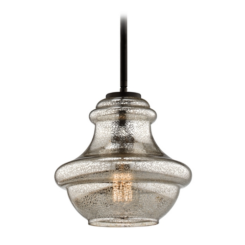 Kichler Lighting Kichler Lighting Everly Olde Bronze Mini-Pendant Light with Urn Shade 42167OZMER