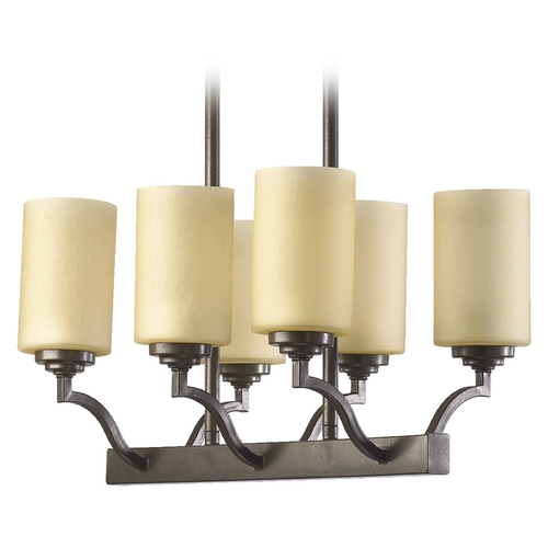 Quorum Lighting Quorum Lighting Atwood Oiled Bronze Island Light with Cylindrical Shade 6596-6-86