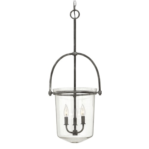 Hinkley Lighting Hinkley Lighting Clancy Aged Zinc Mini-Chandelier 3033DZ