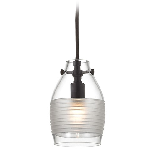 Elk Lighting Elk Lighting Carved Glass Oil Rubbed Bronze Mini-Pendant Light with Bowl / Dome Shade 46162/1