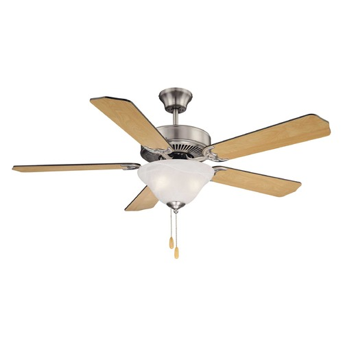 Savoy House Savoy House Satin Nickel Ceiling Fan with Light 52-ECM-5RV-SN