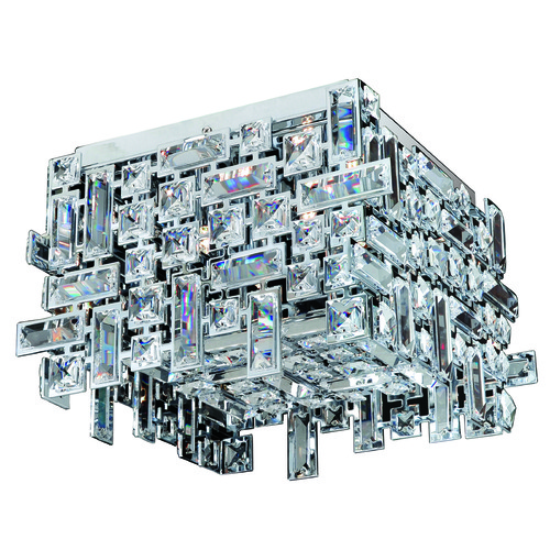 Allegri Lighting Vermeer 4 Light Square Flush Mount 11193-007-FR001